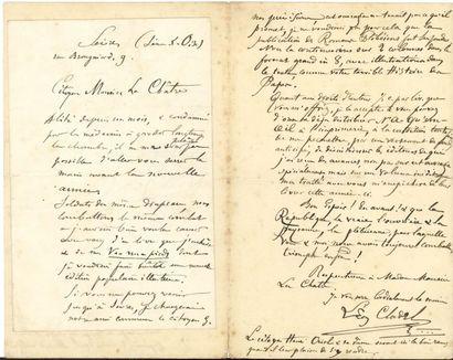 Léon CLADEL (1835-1892) romancier. 14 lettres...