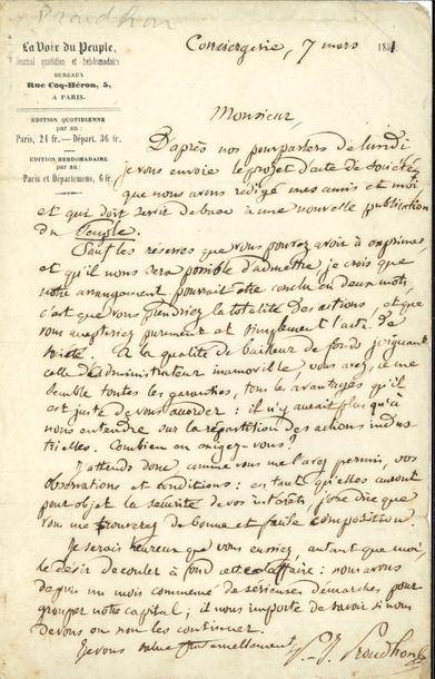 Pierre Joseph PROUDHON (1809-1865) écrivain...