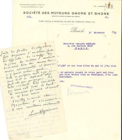 AVIATION. Laurent SEGUIN (1883-1944) ingénieur...