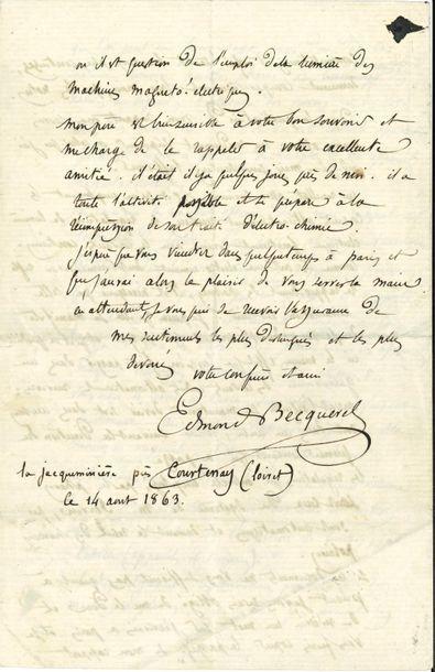 Edmond BECQUEREL (1820-1891) physicien. L.A.S.,...