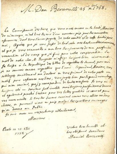 Daniel Bernoulli (1700-1782) médecin, physicien...