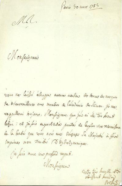Charles BOSSUT (1730-1814) abbé, géomètre...