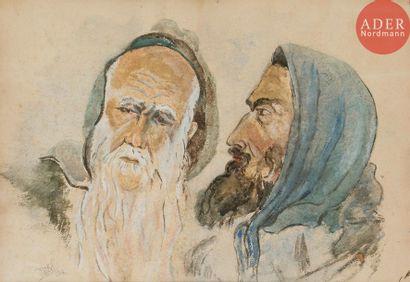 J. WEIL Portrait de deux juifs marocains...
