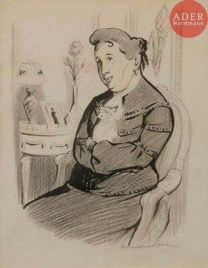 HERMANN-PAUL (1864-1940) MADAME NEDBOIS,...