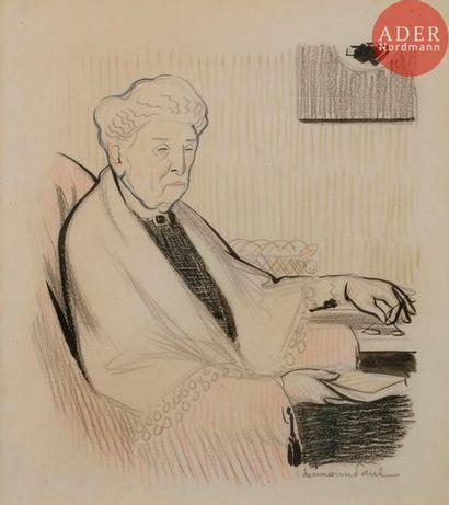 HERMANN-PAUL (1864-1940) MADAME GARNITURE,...