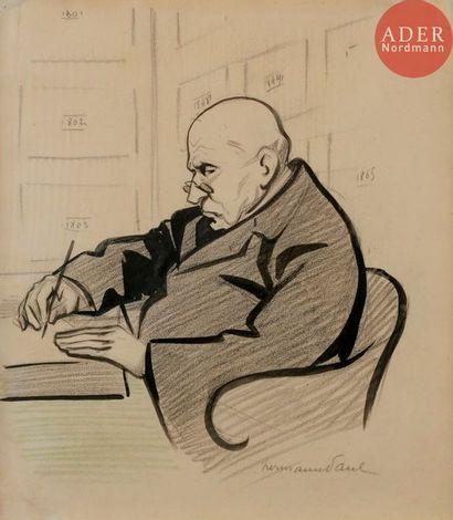 HERMANN-PAUL (1864-1940) LE NOTAIRE, 1904...