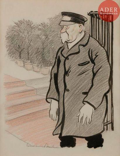 HERMANN-PAUL (1864-1940) LE GARDIEN D'ÉGLISE,...