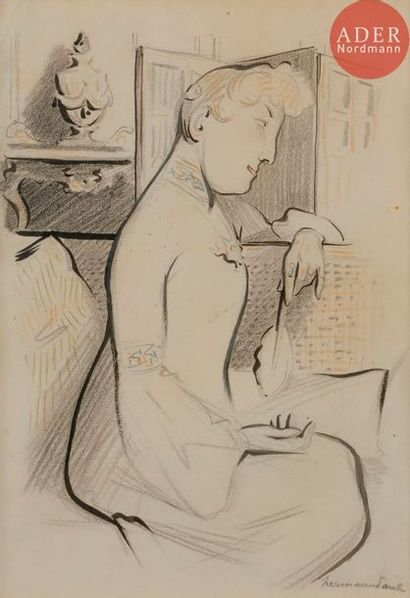 HERMANN-PAUL (1864-1940) MADAME NEDBOIS-MAXILLAIRE,...
