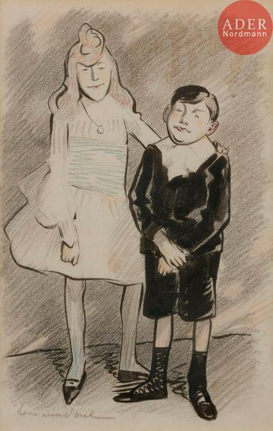 HERMANN-PAUL (1864-1940) LES ENFANTS NEDBOIS-MAXILLAIRE,...