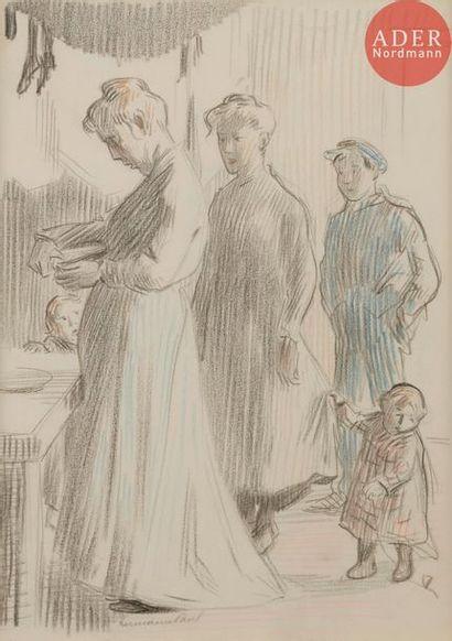 HERMANN-PAUL (1864-1940) LES ENFANTS, 1907...