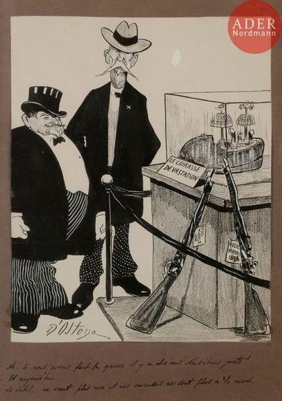Georges d'OSTOYA (1878-1937) SOUCIS DE MARCHANDS...