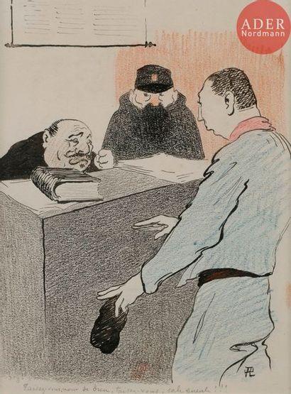 HERMANN-PAUL (1864-1940) LA GRèVE DES OMNIBUS,...