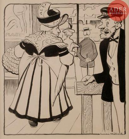 Lucien METIVET (1863-1932) ON A INSULTé UNE...