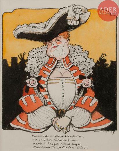 Lucien METIVET (1863-1932) LA VIEILLE GARDE...