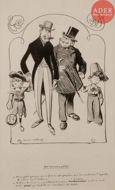 Lucien METIVET (1863-1932) LES HEUREUX PèRES,...