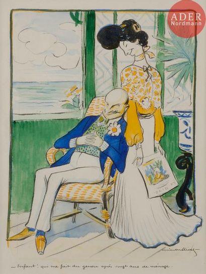Lucien METIVET (1863-1932) EN MÉNAGE, 1903...