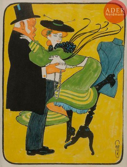 Auguste ROUBILLE (1872-1955) FIN DE COURSES,...