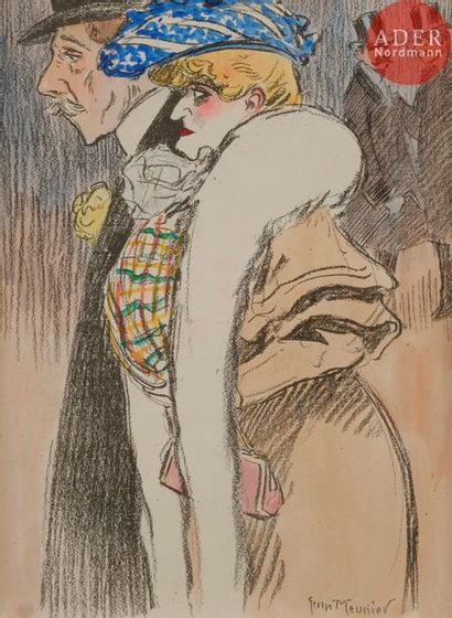 Georges MEUNIER (1869-1942) LA PROMENADE...