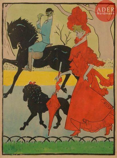 Auguste ROUBILLE (1872-1955) AU BOIS, 1904...
