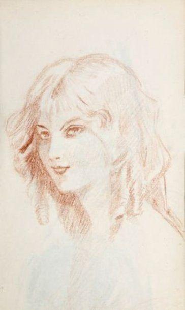G MALEZE Etudes de portraits Un carnet comprenant une trentaine de dessins à la mine...