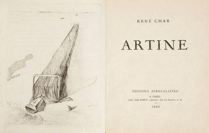 CHAR (René) - DALI (Salvador). Artine. Paris : Éditions surréalistes, José Corti,...