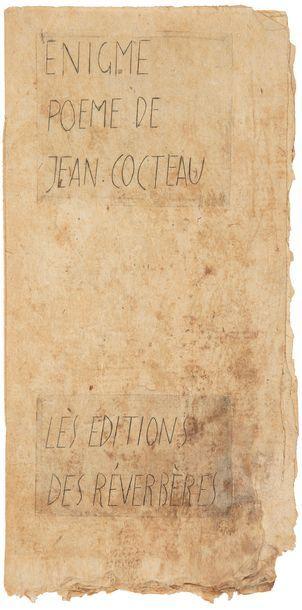 COCTEAU (Jean). Énigme. Paris : Éditions...