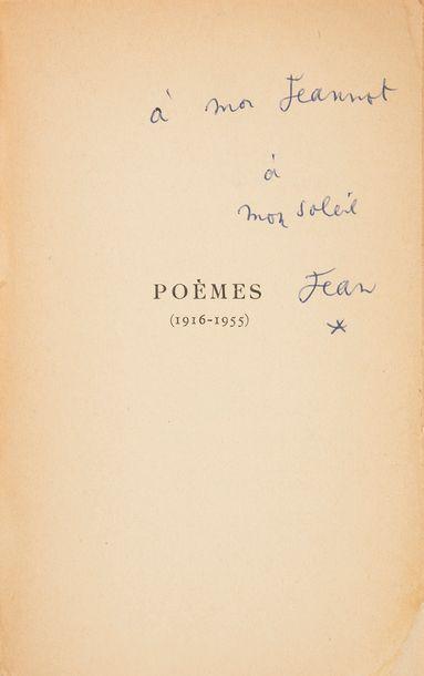 COCTEAU (Jean). Poèmes. 1916-1955. Paris...