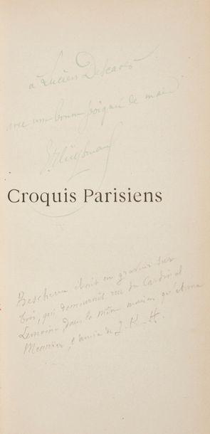 HUYSMANS (Joris-Karl). Croquis parisiens....