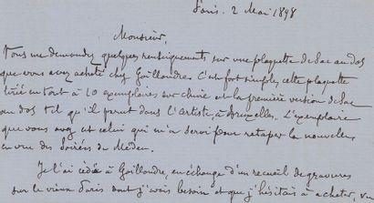 HUYSMANS (Joris-Karl). Sac au dos. Bruxelles [imprimerie Félix Callevaert], 1878....