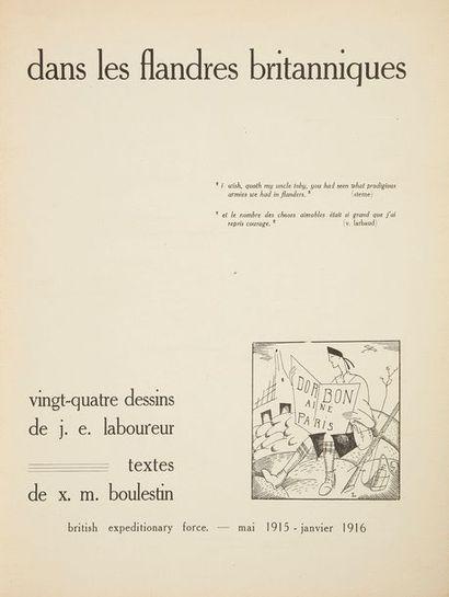 LABOUREUR (Jean-Émile) - BOULESTIN (Xavier-Marcel)....