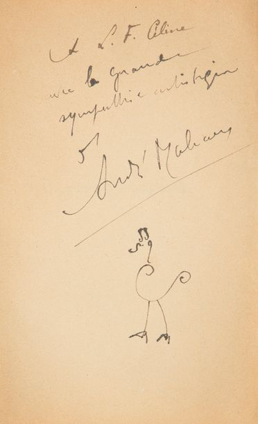 MALRAUX (André). La Condition humaine. Paris: librairie Gallimard, [1933]. — In-12,...