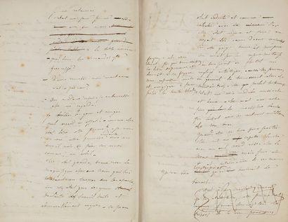 FLAUBERT Gustave (1821-1880). MANUSCRIT autographe signé «Gve Flaubert», Les Mémoires...