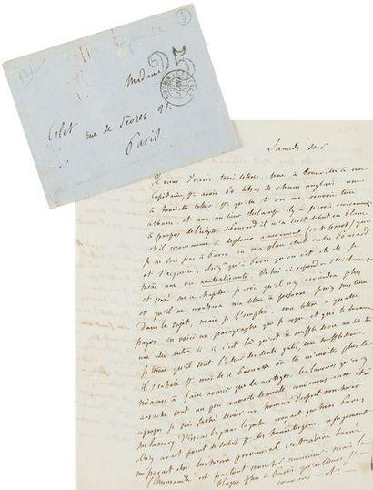 FLAUBERT Gustave (1821-1880). L.A.S. «ton G.», Samedi soir [26 juin 1852], à Louise...