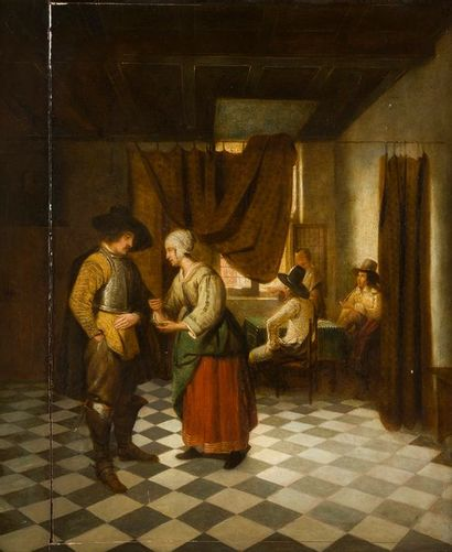 Dans le goût de Pieter de HOOCH Le paiement...