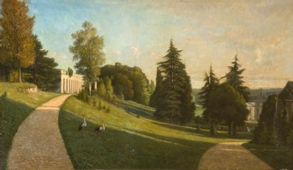 École FRANÇAISE, 1864, PERRET*** L'entrée...