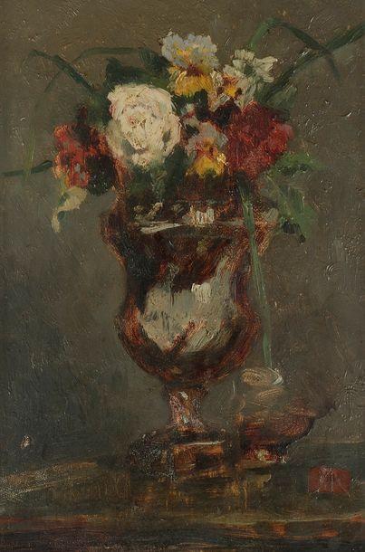 Attribué à Angelo GIORGETTI Vase de fleurs...