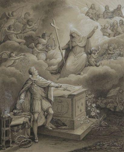 Ange-René RAVAULT (1766-1845) Charles x prêtant...