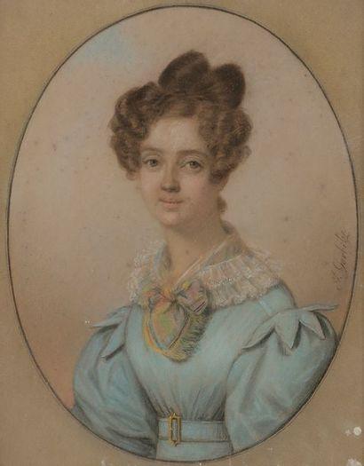 Johan GÖRBITZ (1782-1853) Portrait de femme...