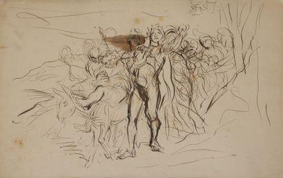 Alfred DEHODENCQ (1822-1882) Deux cortèges...