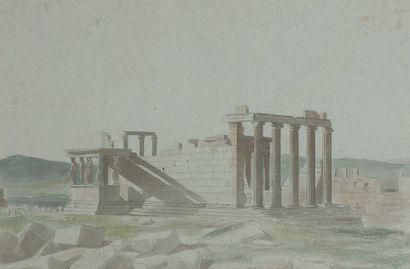 École FRANÇAISE du XIXe siècle L'Acropole...