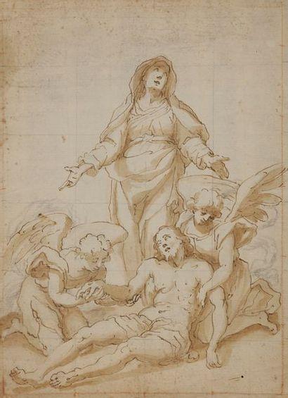 ÉCOLE ESPAGNOLE du XVIIe siècle La Déploration...