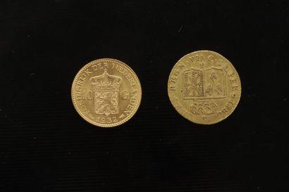 Lot de deux pièces en or : - Louis d'or....