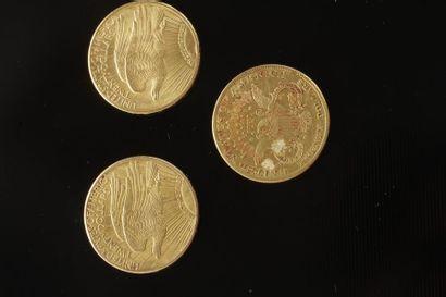1 pièce de 20 Dollars en or.Type Saint Gaudens....