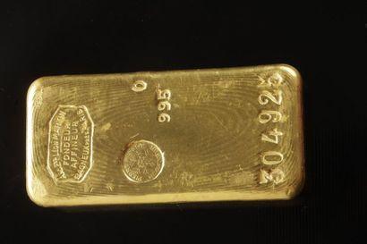 un lingot d'or numéroté 304925 Frais acheteur...