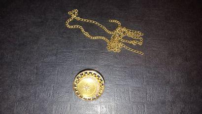 Bris d'or composé d'une chaîne accidentée...