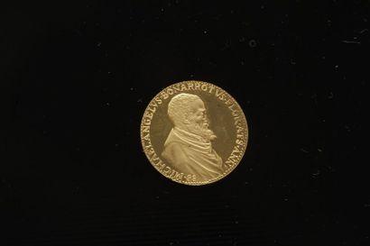 1 pièce commémorative en or. (900 ‰). Michaelangelus...