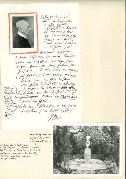 Ferdinand BAC (1859-1952). Plus de 170 L.A.S....