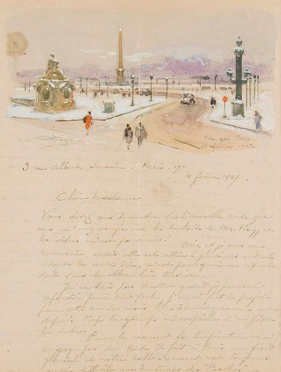 Alfred-Georges Hoën (1869-1954) peintre....