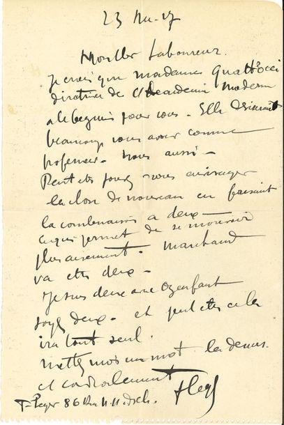 Fernand LÉGER (1881-1955). L.A.S., 23 décembre....