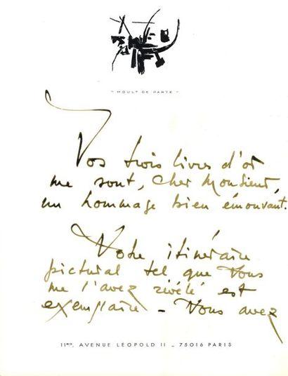 Georges Mathieu (1921-2012). 6 L.A.S., Paris...
